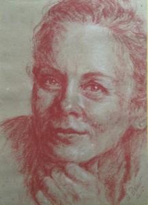 Chiaroscuro-Portrait Andrea Bauer