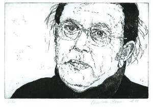 Portraitradierung Faek Rasul by Andrea Bauer