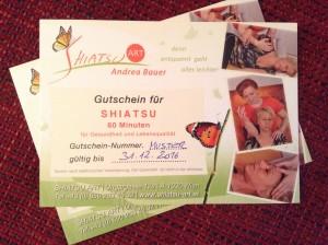 Shiatsu-Gutscheine